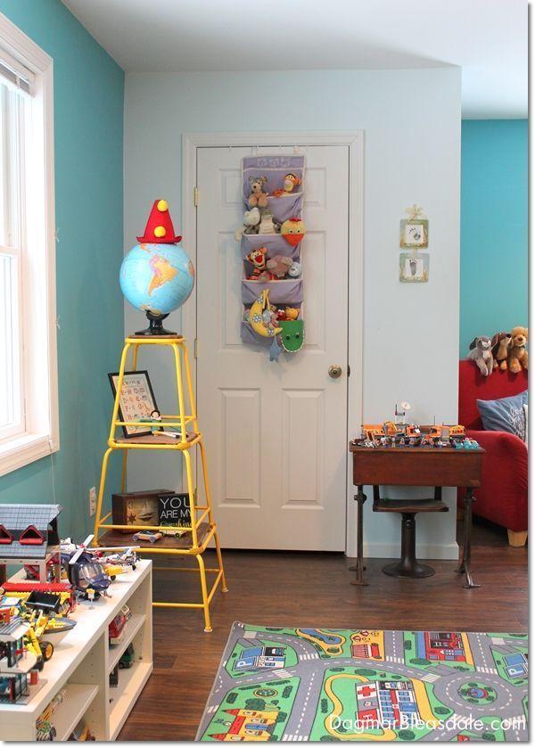 Toy closet organizing. Dagmar's Home. DagmarBleasdale.com #organizing #kidsrooms #storage #DIY #childrensroom #toystorage