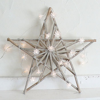 Star and clear daisy light garland