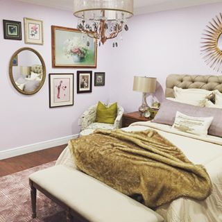 Inspired Lilac SW 6820  SherwinWilliams  Bedroom