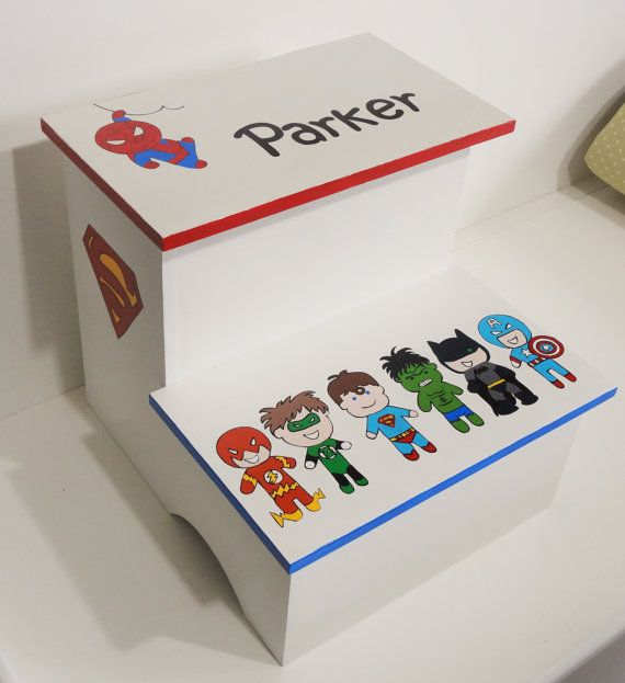Hey, I found this really awesome Etsy listing at https://www.etsy.com/listing/171340317/step-stool-baby-marvel-super-heroes