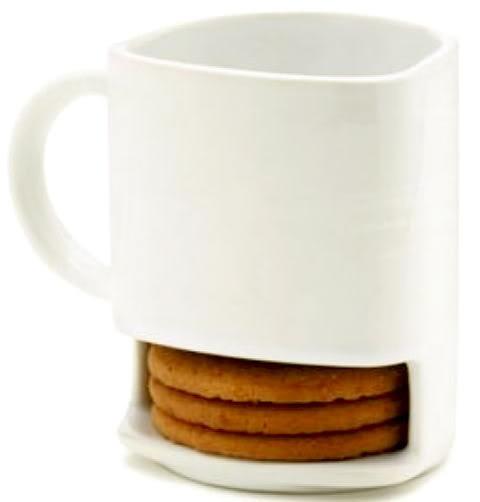 dunk mug.: Kitchens Gadgets Tips Ideas, Originals Cups, Food Ideas, Cookies Compartment, Homemade Cookies, Cookies Storage, Cookies Mugs, Secret Cookies, Sweet Ideas