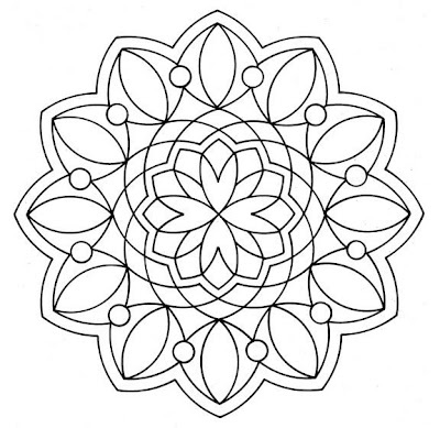 mandala outline- great for a tattoo