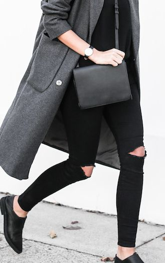 Black + Gray #fashion #style