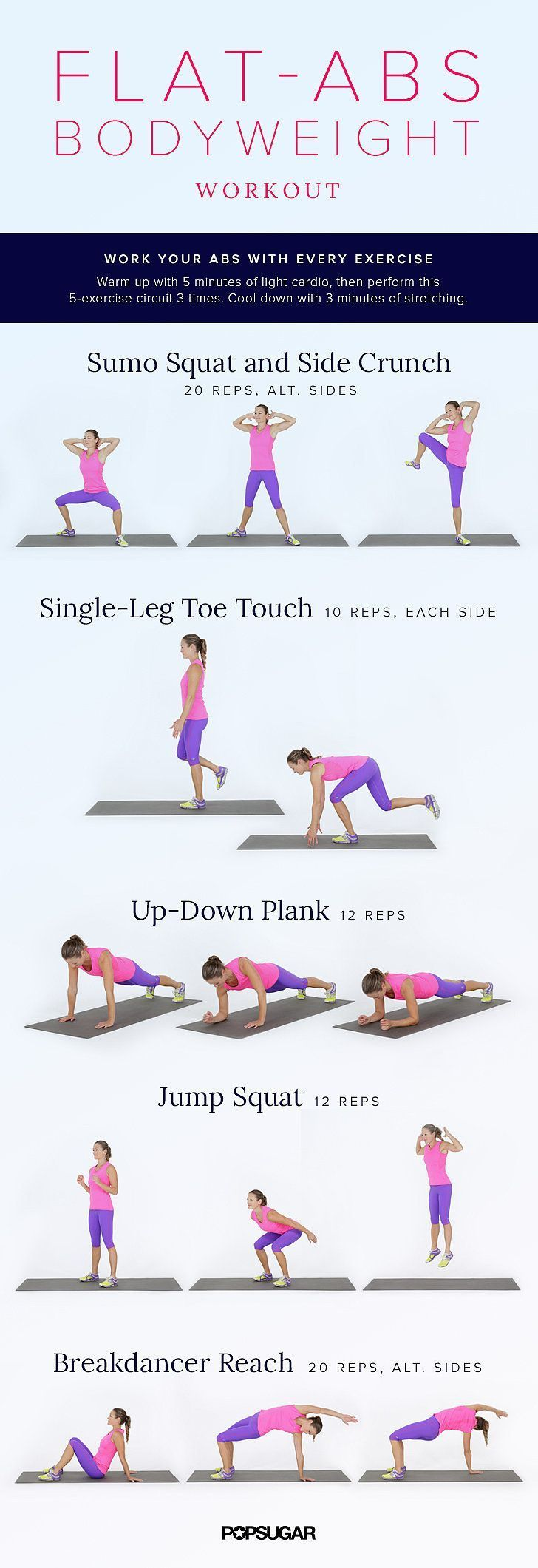 Flat Abs Bodyweight Workout Bodyweight Workout Fun Workouts Exercise