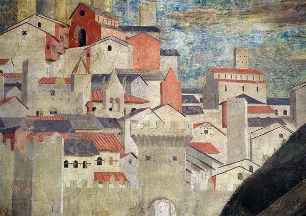 "Piero della Francesca ""Detail of The Queen of Sheba Adoring the Bridge Made of the Wood of the True Cross, Jerusalem"""