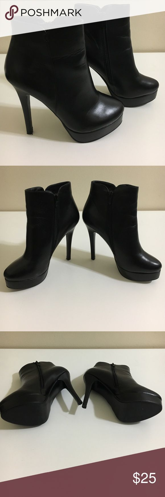 Charles by Charles David Platform Booties 7 1/2B Charles by Charles David Black Platform Booties 7 1/2B. Used only a few times. Zipper is a bit hard to zip up/down but works well. Charles by Charles David Shoes Ankle Boots & Booties