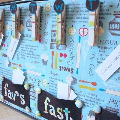Bulletin Board idea: Weeks Menu, Menu Boards, Meals Plans Boards, Menu Planners, Menu Plans, Fast Meals, Meals Planners, Families Meals Plans, Weeks Meals Plans