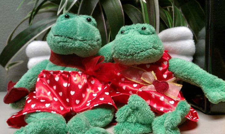 Valentine frog angels, what's not to love.  ... Uploaded with Pinterest Android app. Get it here: http://bit.ly/w38r4m