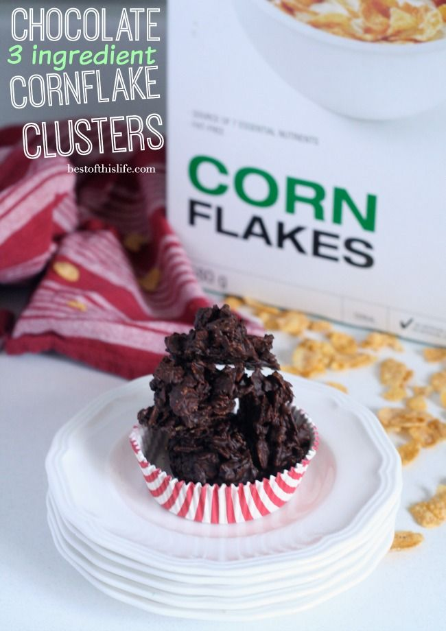 Chocolate Cornflake Clusters Only 3 Ingredients