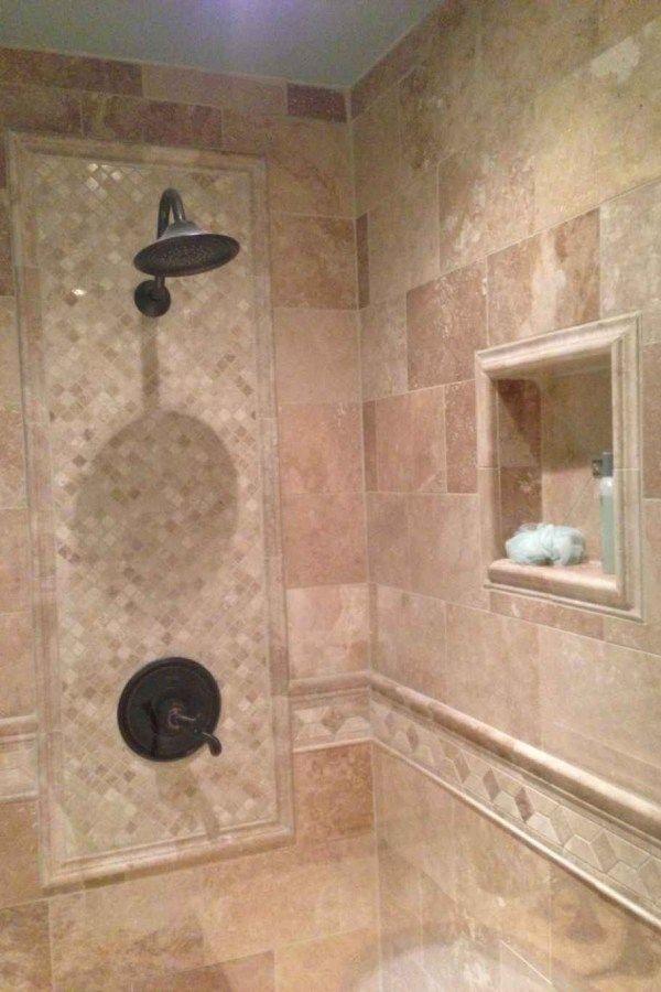 120 Stunning Bathroom Tile Shower Ideas Shower Wall Tile Shower