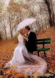 Картинки по запросу Фотосессия свадьба осенью