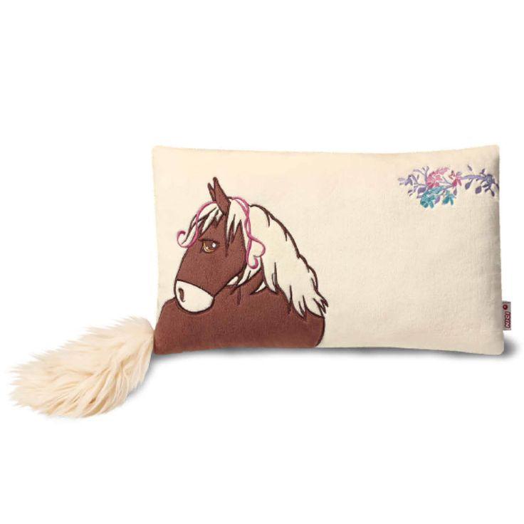 NICI Horse Velvet Brown Rectangular Cushion 43x25cm