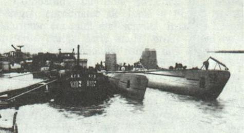 Constanta - Submarinele Rechinul si Marsuinul - 1940