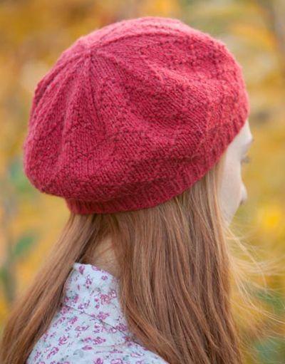 Free knitting pattern for Kumatra Cap with diamond pattern
