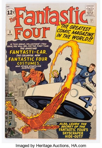 Silver Age (1956-1969):Superhero, Fantastic Four #3 (Marvel, 1962) Condition: Apparent FN....