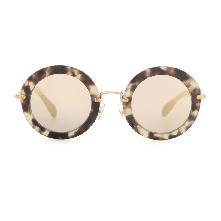 Miu Miu - Round sunglasses - These sunglasses are sitting at the top of our list of stylish essentials. - @ www.mytheresa.com