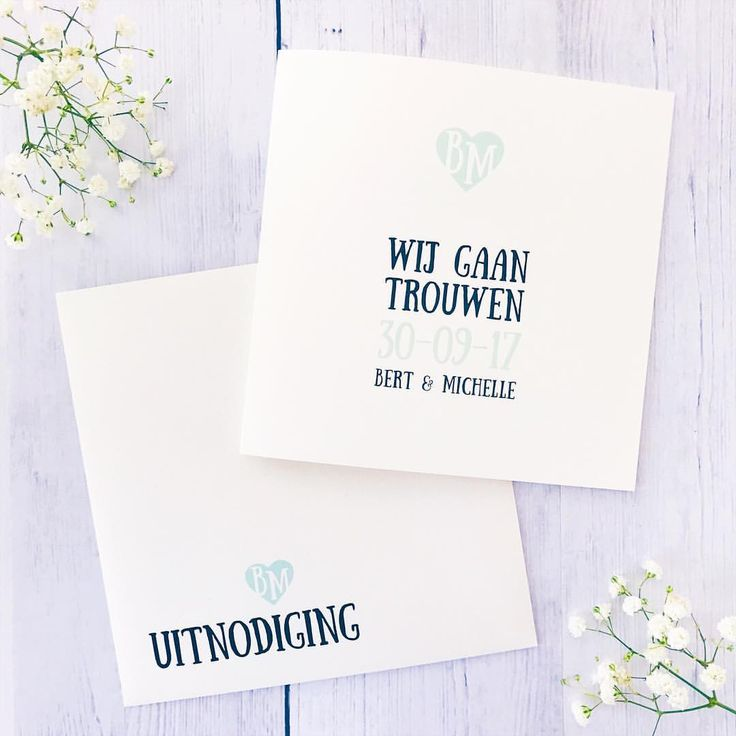 Trouwkaart uit een toffe weddingstationery • weddingcard • studiosproet.com