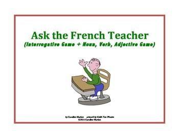 In Game #1, students have one minute to ask you seven questions in French about each of the 12 visuals. In Game #2, students write down nouns, verbs and adjectives to describe the visuals and then write a sentence with these words. French 1 (end of year review), French 2 (back to school review) 3rd - 10th gr. $