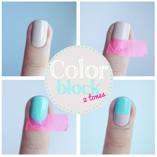Nail art Color Block