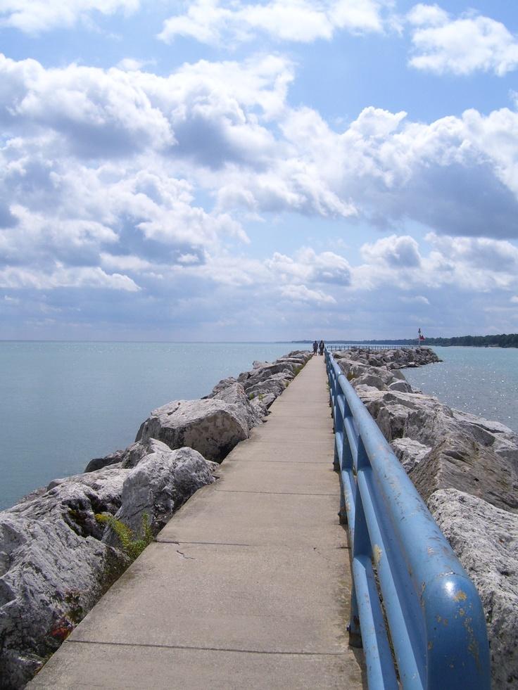 Breakwater in Lexington, Michigan