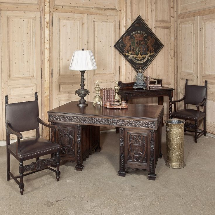 1000 Images About Home Office On Pinterest: 1000+ Images About Antique Home Office Furniture / Library