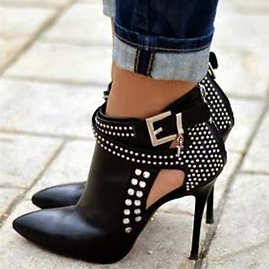 Women's stiletto heel pumps shoes, do you like this rock star style? Try this on.