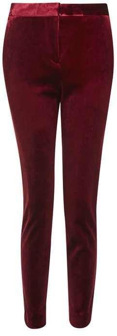 Velvet cigarette trousers