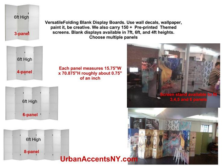 Blank Canvas Folding Screens Can Be Used For Custom Wall Decal Adhesives As A Portable Wall Room Divider