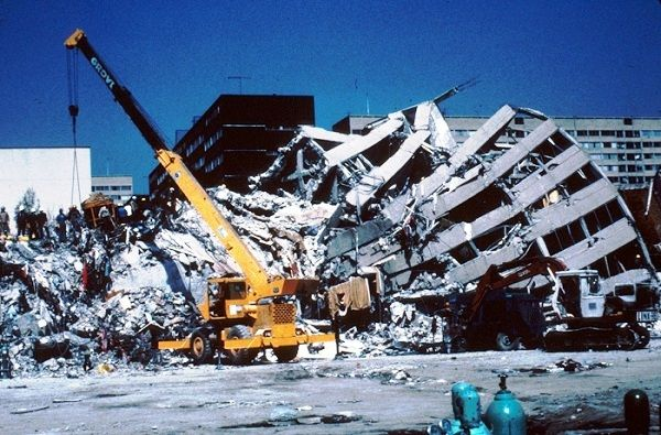 The 1985 Mexico City earthquake was a magnitude 8.1 earthquake that struck some states of Mexico and Mexico City on the early morning of 19 September 1985 at around 7:19 am (CST), caused the deaths of at least 10,000 people and serious damage to the Greater Mexico City Area.