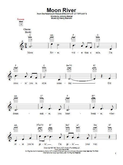 Moon River by Henry Mancini - Ukulele - Guitar Instructor
