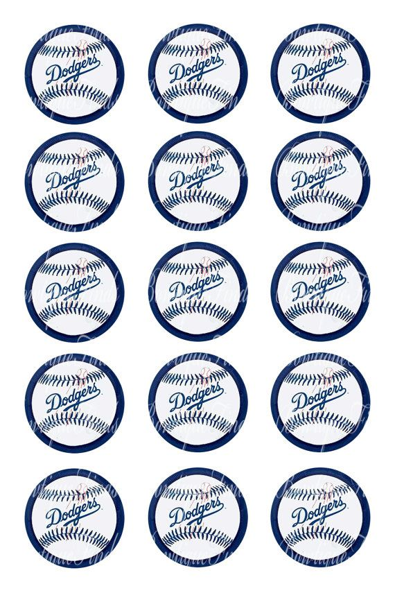INSTANT DOWNLOAD. LA Dodgers 1 Bottle Cap Images. by BowtiqueFinds, $0.99