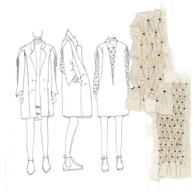 Fashion Sketchbook - fashion design drawings & smocking samples; fashion portfolio // Faiza Matovu
