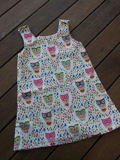Sewing tutorial: Toddler pinafore dress