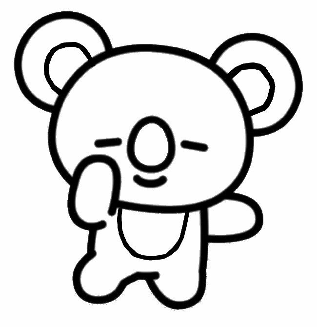 Coloring Page Bt21 Koya 1 In 2021 Coloring Pages Online Coloring Pages Bts Drawings