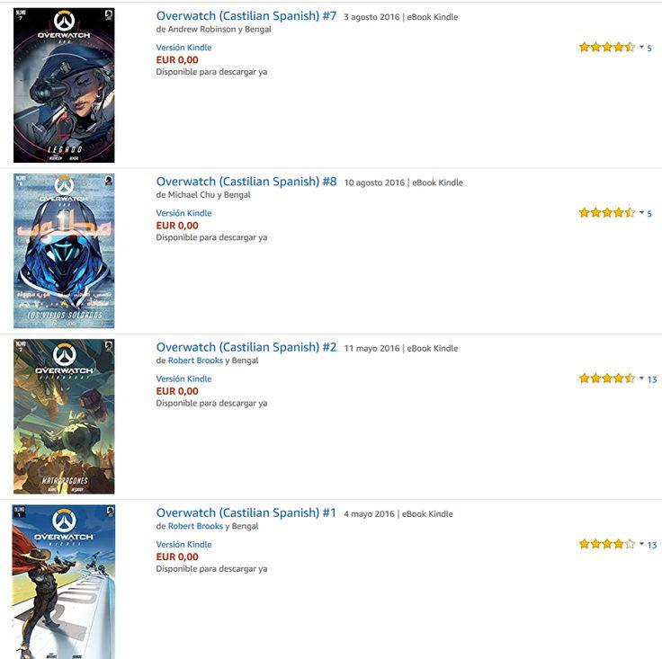 Amazon regala los comics de Overwatch desde el nº 1 al nº 10, están totalmente en castellano y disponibles para descargar en el ebook Kindle o por medio de la app Kindle. Daros prisa...