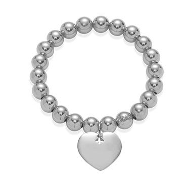 Bracelet with heart on small silver beads will make your New Year's Eve outfit absolutely stunning. You can choose 925 silver or 23k gold-plated version. #lilou #bracelet #heart #new #years #eve #inspirations