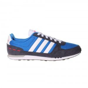 Adidas NEO City Racer Trainer Mens - Satellite Blue / Navy / Red / White