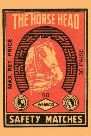 Thousands of companies manufactured matches worldwide and used a variety of fancy labels to make their brand stand out. This label features a Pegasus.