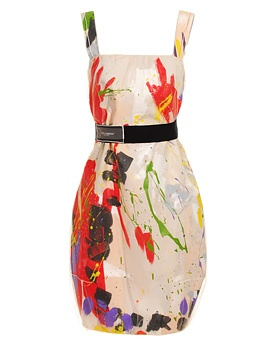 Dolce & Gabana hand painted dress