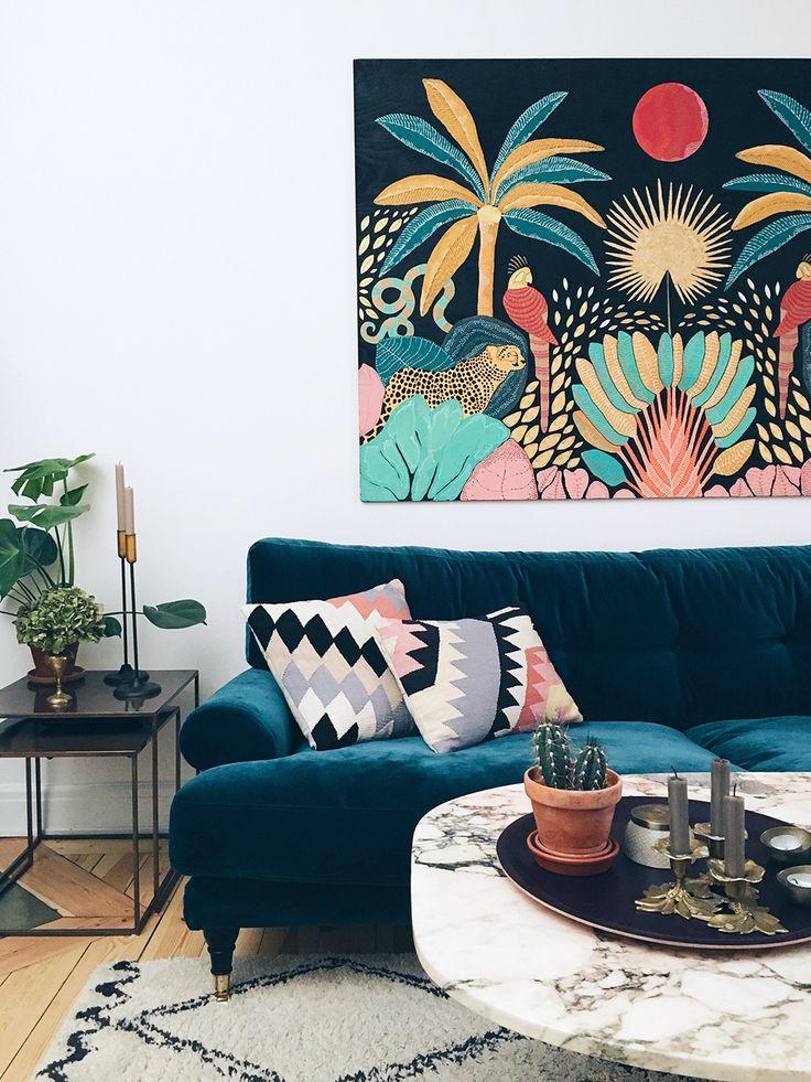 sammetssoffa-inspiration-vardagsrum-vanja-wikstrom-lagenhet