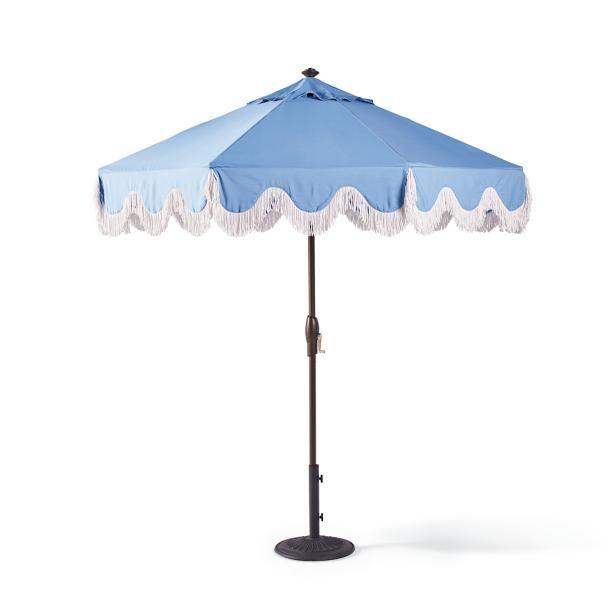 milos air blue designer umbrella - Designer Patio Umbrellas