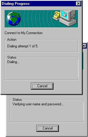 Old dial up connection.