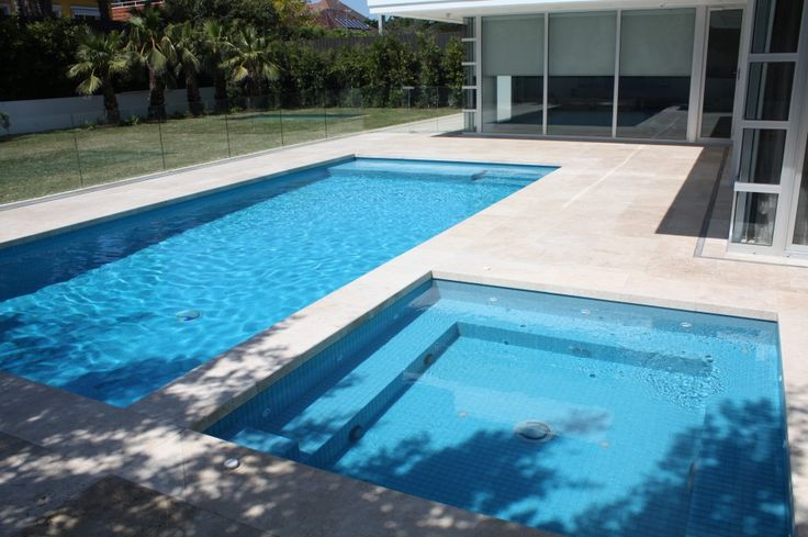 swimming pool Two Swimming Pools Inspiration Front Of House Transparent Glass Door How to Determine the Great Pool Builders