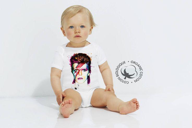 david bowie - boby bébé - body - body 100% coton biologique - body biologique…
