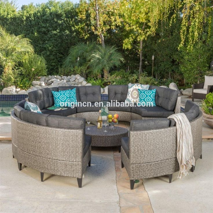 High end 5 star hotel sectional synthetic rattan furniture round outdoor fashion sofa, View fashion sofa, OEM, Origin Product Details from Jinhua Origin Industrial & Trading Co., Ltd. on Alibaba.com