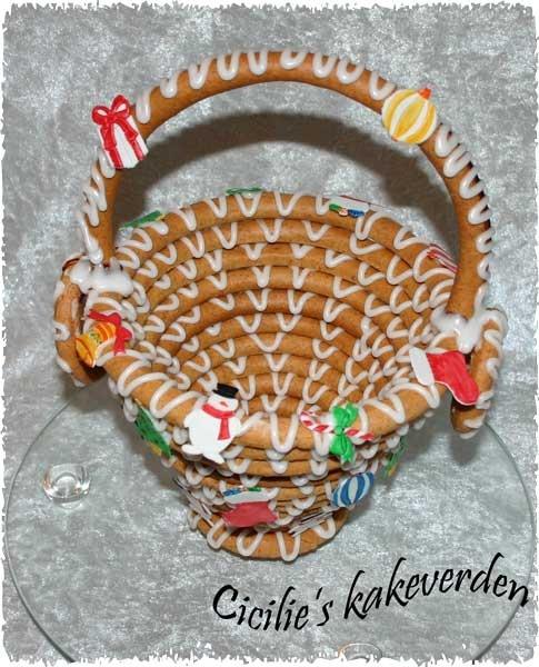 Hmmm. Looks like a Kransekake Christmas basket. Groovy