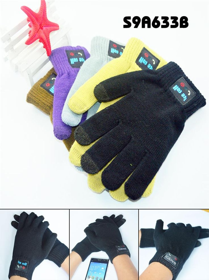 Bluetooth Gloves  1. With an extremely soft feeling and exceptional comfort, it can reduce hand fatigue. 2. With Handfree phone, Touch screen, Vibrate alert, Call returen functions. 3. Standard:  RoHS standard 4. Battery type: Polymer Li-Battery 5. Material: Acrylic 6. Size: 22cm www.ideagroupigm.com