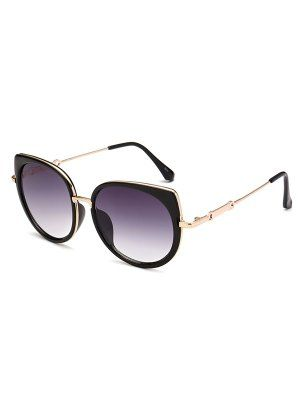 Full Rims Cat Eye Sunglasses - Deep Purple - Deep Purple