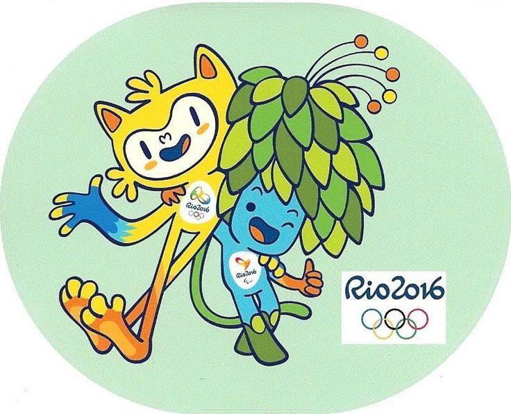 Brazil Olympic games 2016 Rio de Janeiro Mascots decal adhesive vinyl sticker  | eBay