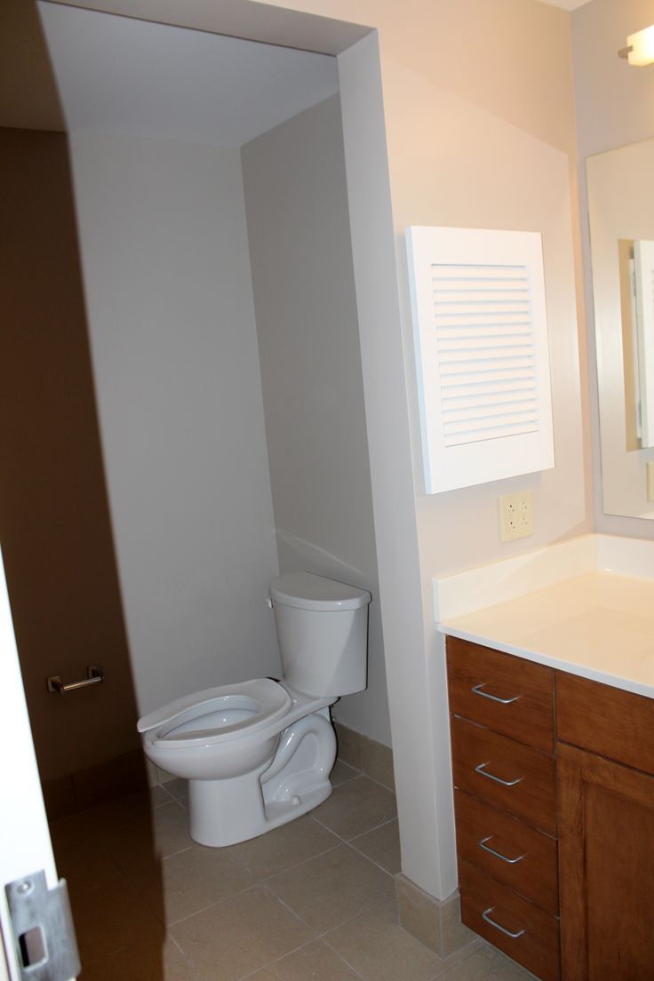 Each suite comes with private bathrooms shared between